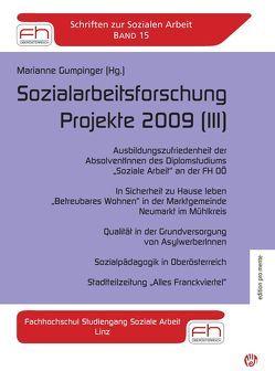 Marianne Gumpinger (Hg.)  Sozialarbeitsforschung Projekte 2009 (III) von Gumpinger,  Marianne