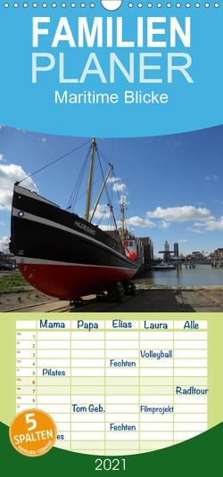 Maritime Blicke – Familienplaner hoch (Wandkalender 2021 , 21 cm x 45 cm, hoch) von Thede,  Peter