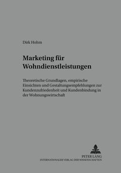Marketing für Wohndienstleistungen von Hohm,  Dirk