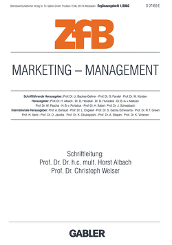 Marketing — Management von Albach,  Horst, Weiser,  Christoph