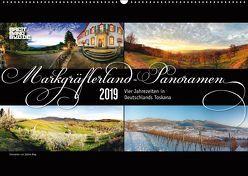 Markgräflerland-Panoramen – Vier Jahreszeiten in der Toskana Deutschlands (Wandkalender 2019 DIN A2 quer) von Bieg,  Sabine