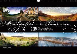 Markgräflerland-Panoramen – Vier Jahreszeiten in der Toskana Deutschlands (Wandkalender 2019 DIN A3 quer) von Bieg,  Sabine