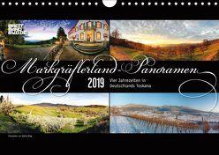 Markgräflerland-Panoramen – Vier Jahreszeiten in der Toskana Deutschlands (Wandkalender 2019 DIN A4 quer) von Bieg,  Sabine