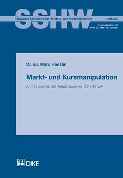 Markt- und Kursmanipulation von Hanslin,  Marc