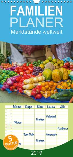 Marktstände weltweit – Familienplaner hoch (Wandkalender 2019 , 21 cm x 45 cm, hoch) von Leonhardy,  Thomas