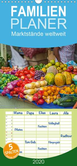 Marktstände weltweit – Familienplaner hoch (Wandkalender 2020 , 21 cm x 45 cm, hoch) von Leonhardy,  Thomas