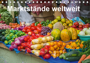 Marktstände weltweit (Tischkalender 2021 DIN A5 quer) von Leonhardy,  Thomas