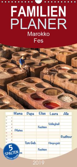 Marokko – Fes – Familienplaner hoch (Wandkalender 2019 , 21 cm x 45 cm, hoch) von Schickert,  Peter