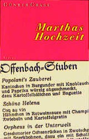 Marthas Hochzeit von Grass,  Günter