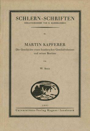 Martin Kapferer von Senn,  Walter