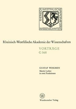 Martin Luther in zwei Funktionen von Wingren,  Gustaf