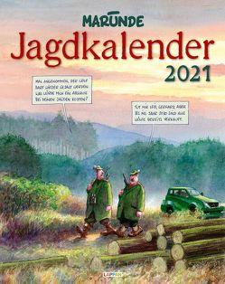 Marunde Jagdkalender 2021: Monatskalender für die Wand im Großformat von Marunde,  Wolf-Rüdiger