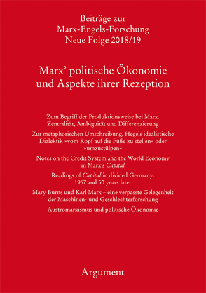 Marx' politische Ökonomie und Aspekte ihrer Rezeption von Hecker,  Rolf, Sperl,  Richard, Vollgraf,  Carl-Erich