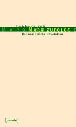Marx zufolge von Lenger,  Hans-Joachim