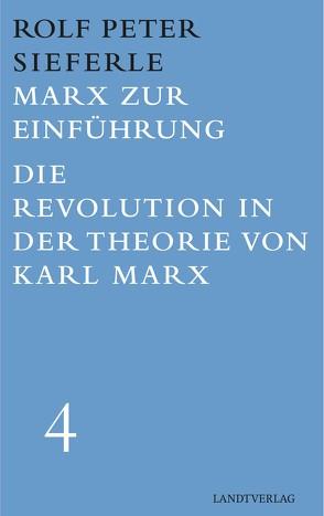 Marx zur Einführung / Die Revolution in der Theorie von Karl Marx von Sieferle,  Rolf Dieter