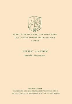 """Masaccios """"Zinsgroschen"""" von Einem,  Herbert von"""