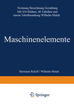 Maschinen elemente von Roloff,  Hermann