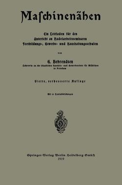 Maschinenähen von Behrendsen,  Gertrud