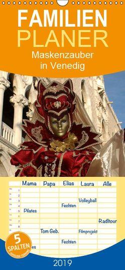 Maskenzauber in Venedig 2019 – Familienplaner hoch (Wandkalender 2019 , 21 cm x 45 cm, hoch) von Jordan,  Diane