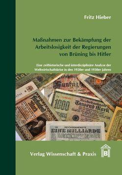 Maßnahmen zur Bekämpfung der Arbeitslosigkeit der Regierungen von Brüning bis Hitler von Hieber,  Fritz