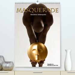 Masquerade – Männliche Aktfotografie (Premium, hochwertiger DIN A2 Wandkalender 2021, Kunstdruck in Hochglanz) von Fotodesign,  Black&White, Wehrle und Uwe Frank,  Ralf