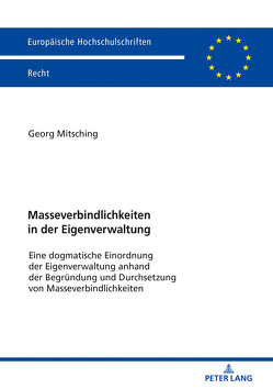 Masseverbindlichkeiten in der Eigenverwaltung von Mitsching,  Georg