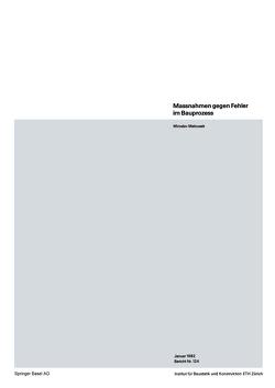 Massnahmen gegen Fehler im Bauprozess von Matousek,  M.