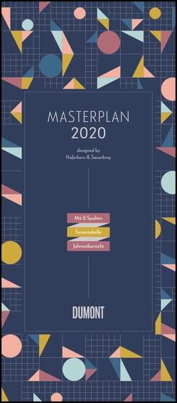Masterplan – Designed by Haferkorn & Sauerbrey 2020 – DUMONT XXL-Planer mit 6 Spalten – Hochformat 30,0 x 68,5 cm von DUMONT Kalenderverlag, Haferkorn,  Romy