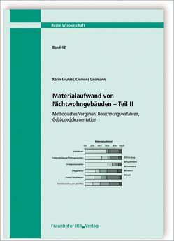 Materialaufwand von Nichtwohngebäuden – Teil II. von Deilmann,  Clemens, Gruhler,  Karin