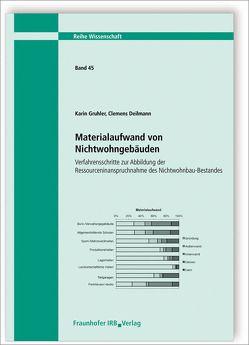 Materialaufwand von Nichtwohngebäuden. Verfahrensschritte zur Abbildung der Ressourceninanspruchnahme des Nichtwohnbau-Bestandes. von Deilmann,  Clemens, Gruhler,  Karin