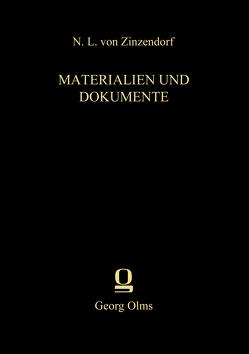 Materialien und Dokumente von Zimmerling,  Peter, Zinzendorf,  Nikolaus Ludwig Von