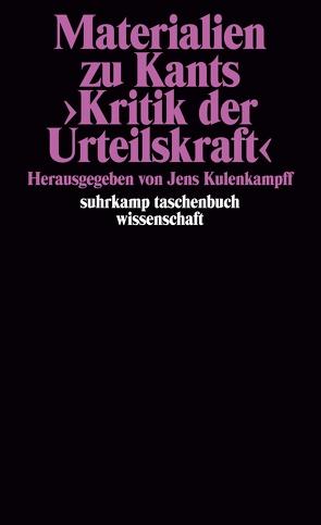 Materialien zu Kants >Kritik der Urteilskraft< von Kulenkampff,  Jens