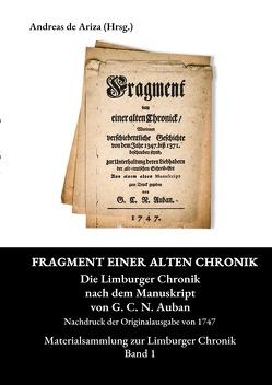 Materialsammlung zur Limburger Chronik / Fragment einer alten Chronick von de Ariza,  Andreas