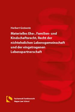 Materielles Ehe-, Familien- und Kindschaftsrecht, Recht der nichtehelichen Lebensgemeinschaft und der eingetragenen Lebenspartnerschaft von Grziwotz,  Herbert