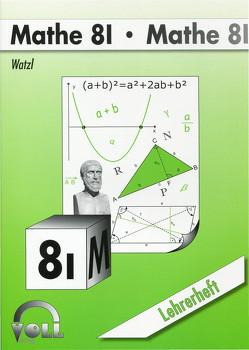 Mathe 8 I von Watzl,  Christoph