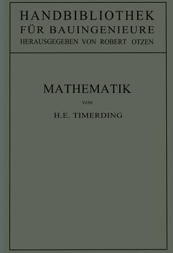 Mathematik von Otzen,  Robert, Timerding,  H.E.