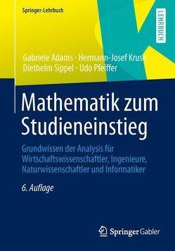 Mathematik zum Studieneinstieg von Adams,  Gabriele, Kruse,  Hermann-Josef, Pfeiffer,  Udo, Sippel,  Diethelm