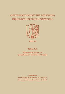 Mathematische Analyse von Sprachelementen, Sprachstil und Sprachen von Fucks,  Wilhelm