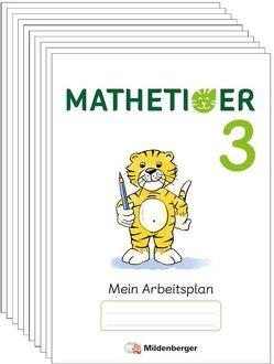 Mathetiger 3 – Arbeitsplan zur Buchausgabe (VPE 10) von Laubis,  Thomas, Schnitzer,  Eva