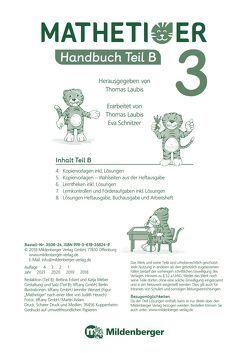 Mathetiger 3 – Handbuch, Teil B · Neubearbeitung von Heidenreich,  Matthias, Laubis,  Thomas, Schnitzer,  Eva