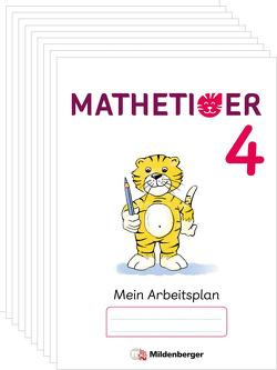 Mathetiger 4 – Arbeitsplan zur Buchausgabe (VPE 10) von Laubis,  Thomas, Schnitzer,  Eva, tiff.any