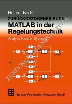 MATLAB in der Regelungstechnik von Bode,  Helmut