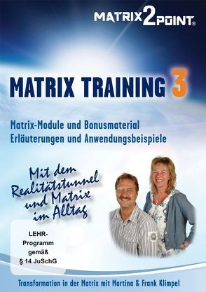 MATRIX TRAINING 3 von Indergand,  Peter