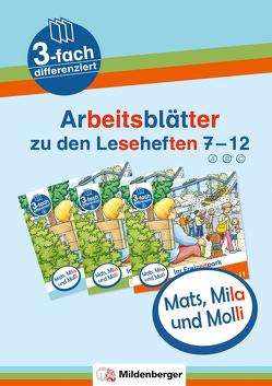 Mats, Mila und Molli – Arbeitsblätter zu den Leseheften 7 – 12 (A B C) von Heinisch,  Gabriele, Wolber,  Axel
