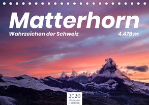 Matterhorn – Wahrzeichen der Schweiz (Tischkalender 2020 DIN A5 quer) von Lederer,  Benjamin