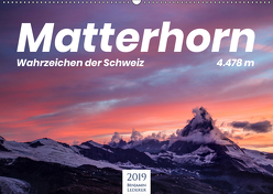 Matterhorn – Wahrzeichen der Schweiz (Wandkalender 2019 DIN A2 quer) von Lederer,  Benjamin