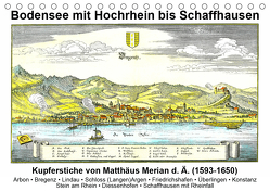 Matthäus Merian – Bodensee mit Hochrhein bis Schaffhausen (Tischkalender 2020 DIN A5 quer) von Liepke,  Claus