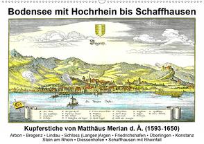 Matthäus Merian – Bodensee mit Hochrhein bis Schaffhausen (Wandkalender 2020 DIN A2 quer) von Liepke,  Claus