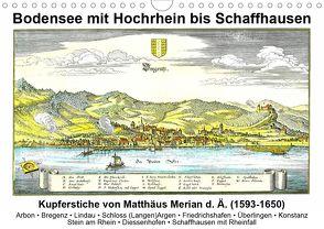 Matthäus Merian – Bodensee mit Hochrhein bis Schaffhausen (Wandkalender 2020 DIN A4 quer) von Liepke,  Claus