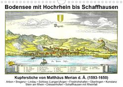 Matthäus Merian – Bodensee mit Hochrhein bis Schaffhausen (Wandkalender 2021 DIN A4 quer) von Liepke,  Claus